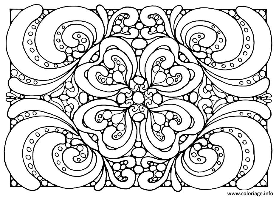 coloriage adulte motifs dessin gratuit