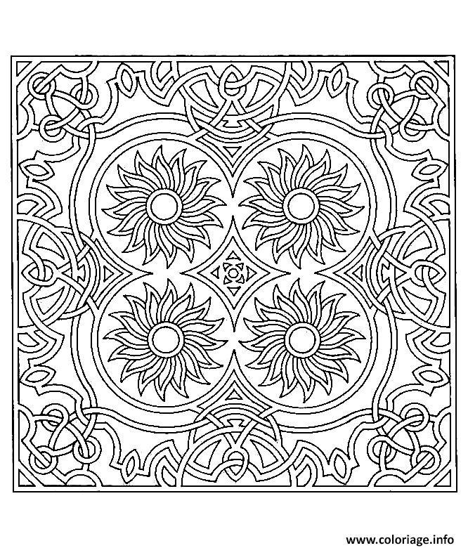 Coloriage difficile symetrie tournesols dessin - Symetrie a imprimer ...