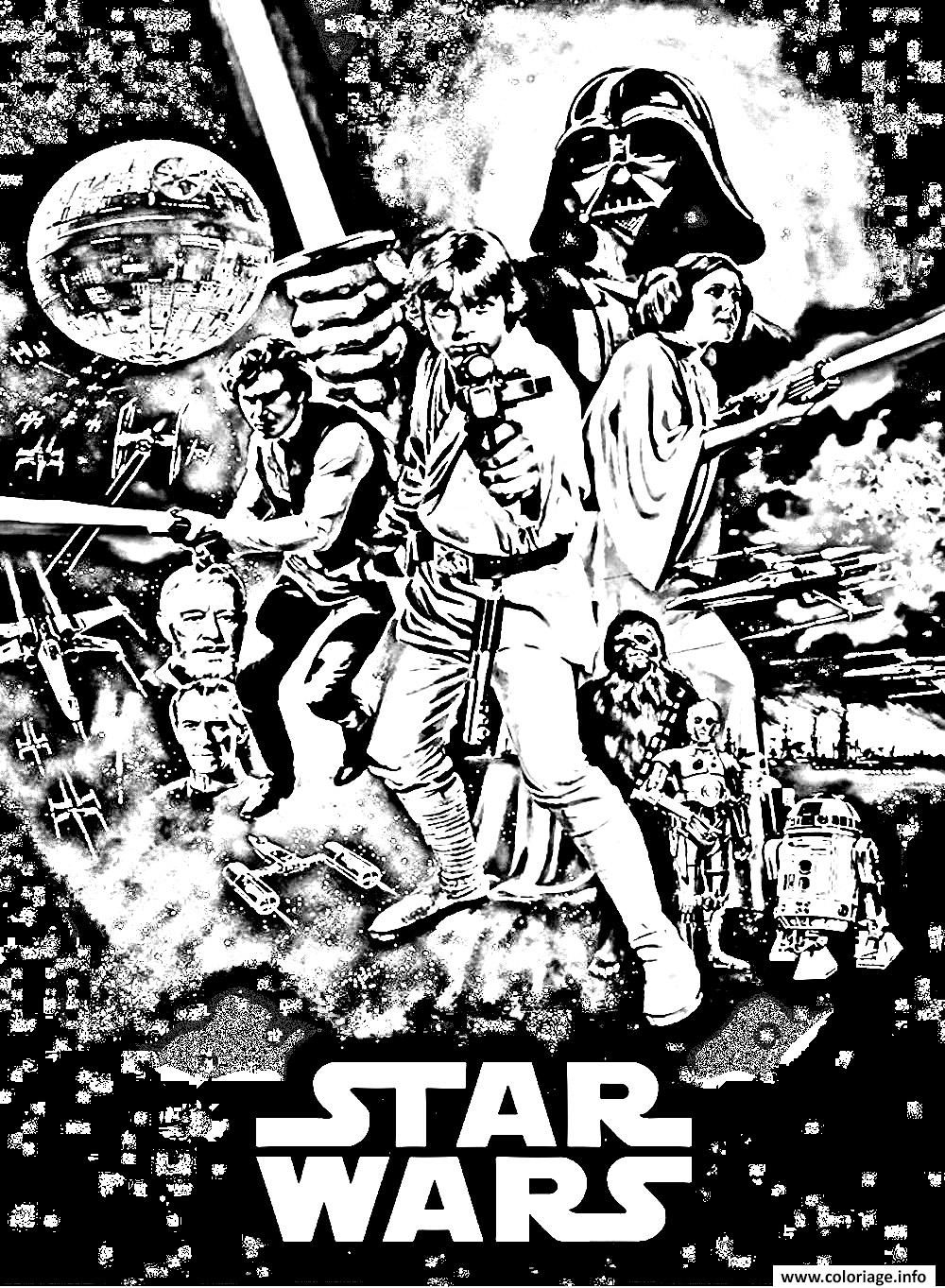 Coloriage Film Star Wars Episode 4 Dessin à Imprimer