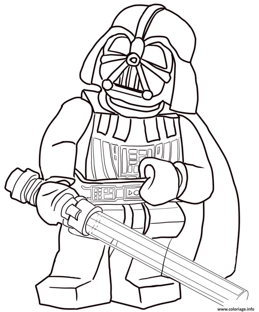 Coloriage Lego Star Wars 3 Movie Dessin   Imprimer