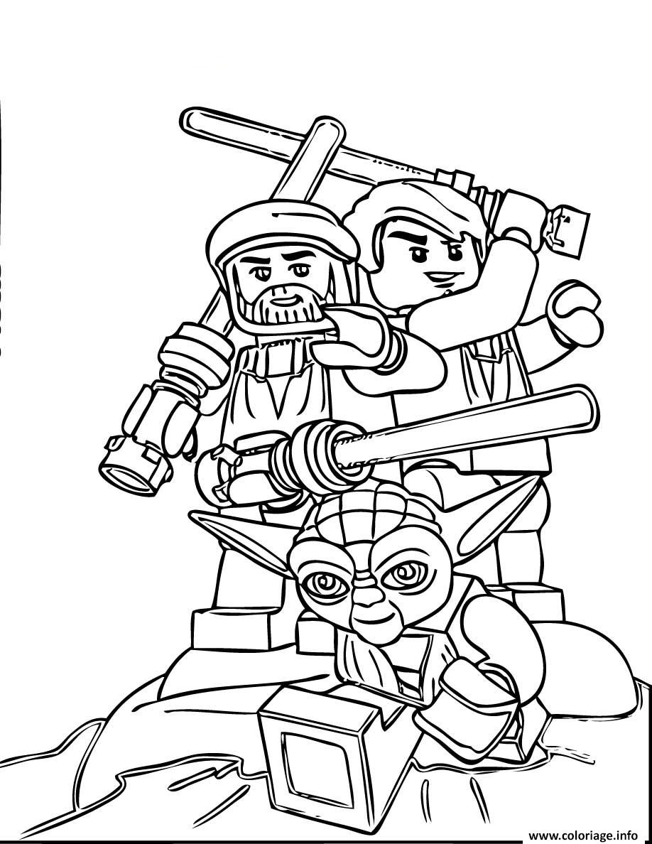 Coloriage Star Wars Lego Team Dessin à Imprimer