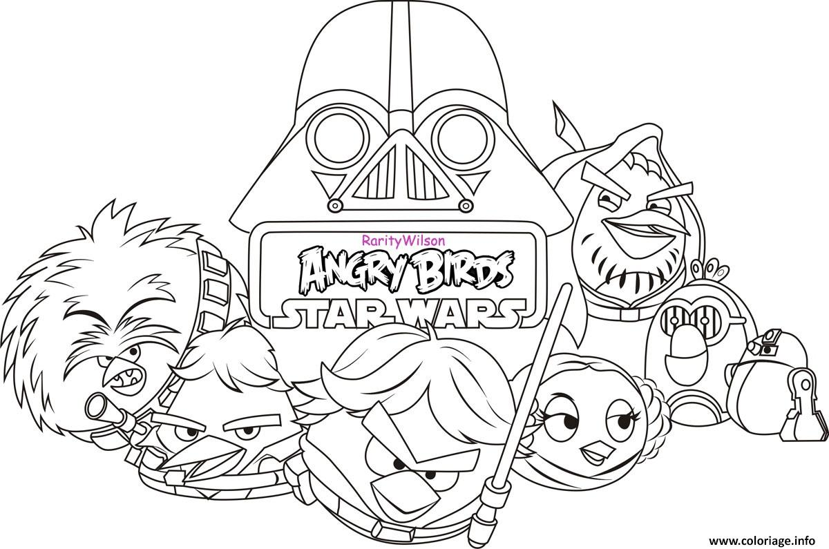 Coloriage angry birds star wars 8 dessin - Telecharger angry birds star wars gratuit ...