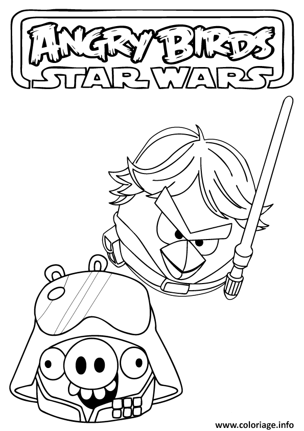Coloriage star wars angry birds dessin - Star wars gratuit ...