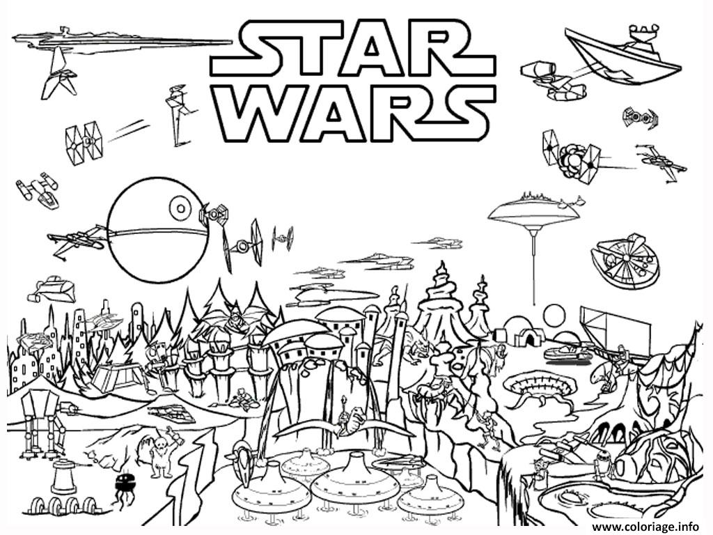 Coloriage Star Wars 13 Dessin   Imprimer