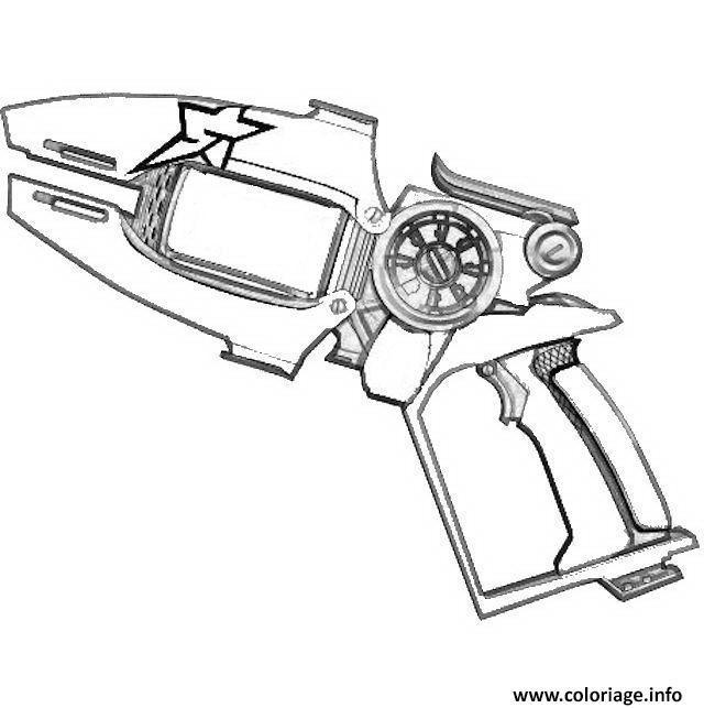 Coloriage slugterra fusil dessin - Pistolet a colorier ...