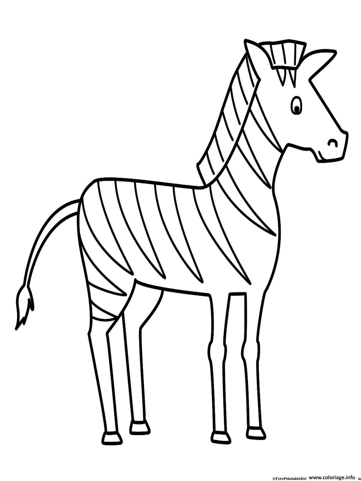 Coloriage zebre 40 - Zebre a dessiner ...