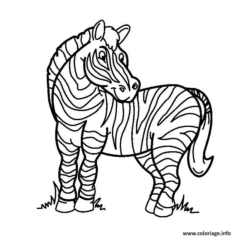 Coloriage zebre - Zebre a dessiner ...