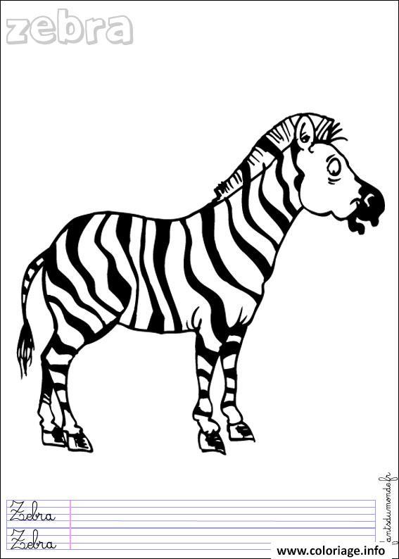 Coloriage zebre 14 - Zebre a dessiner ...