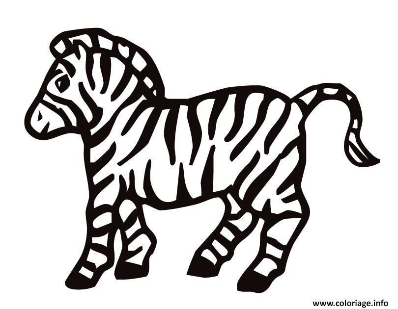 Coloriage zebre 2 - Zebre a dessiner ...