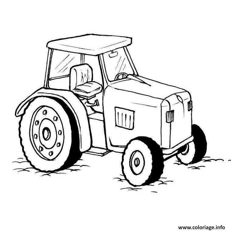 Dessin beau tracteur dessiner Coloriage Gratuit à Imprimer