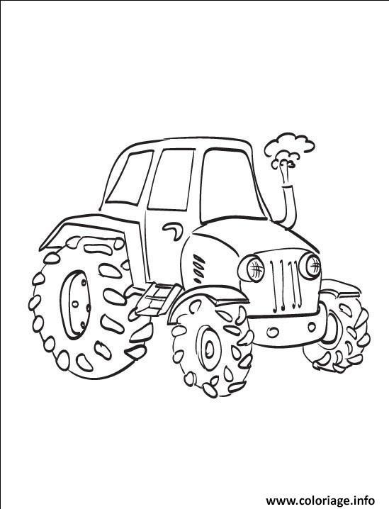 Dessin tracteur 41 Coloriage Gratuit à Imprimer