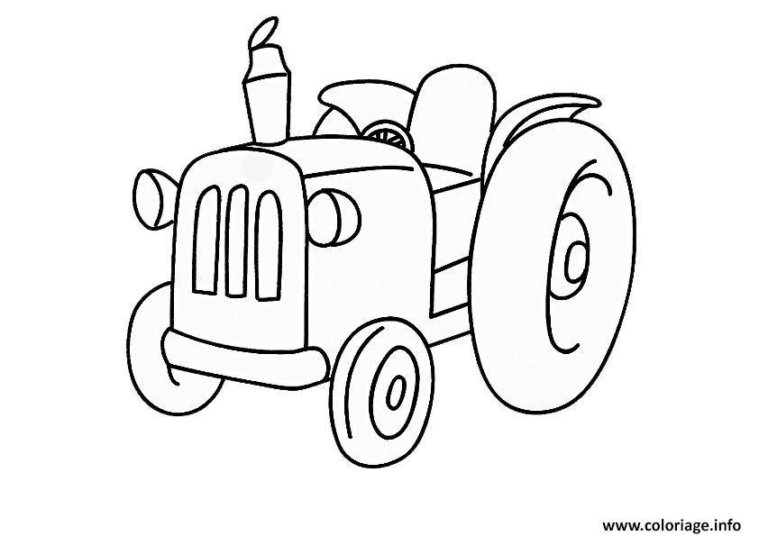 Coloriage tracteur 86 dessin - Dessin a imprimer de tracteur ...