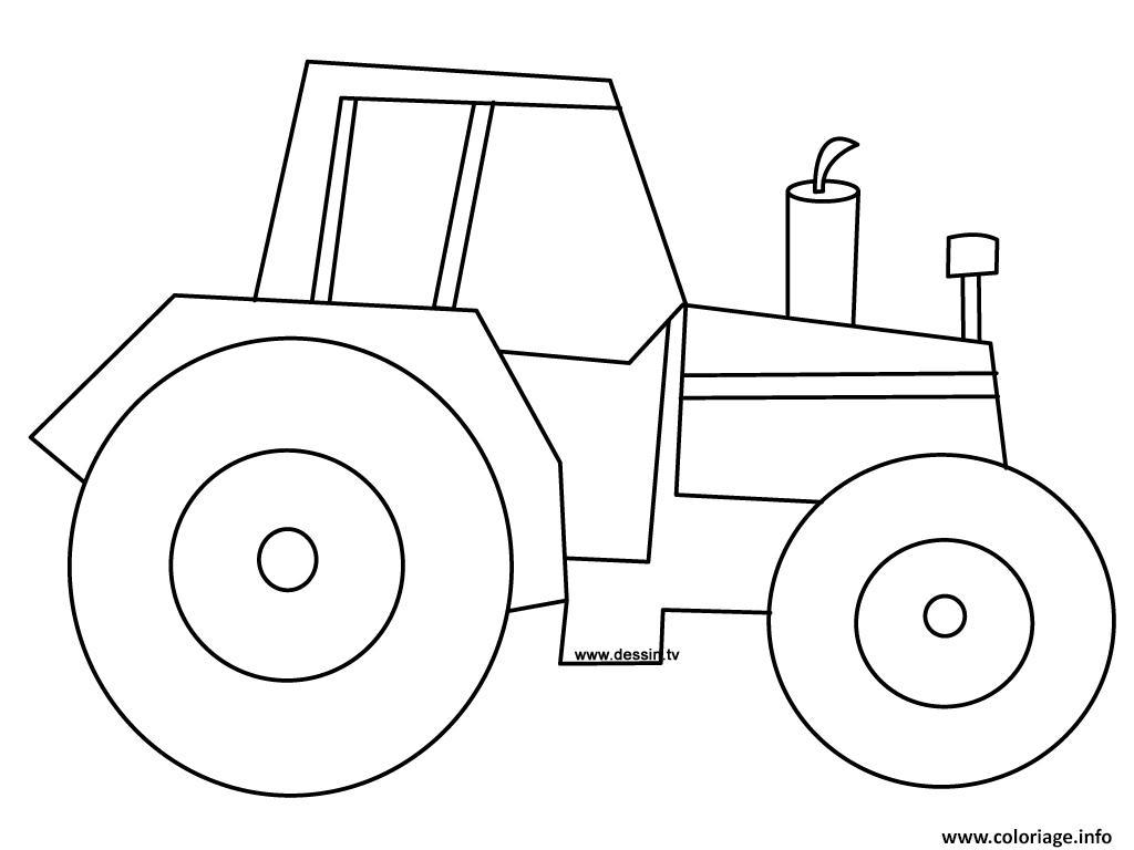 Coloriage Tracteur 2 Dessin