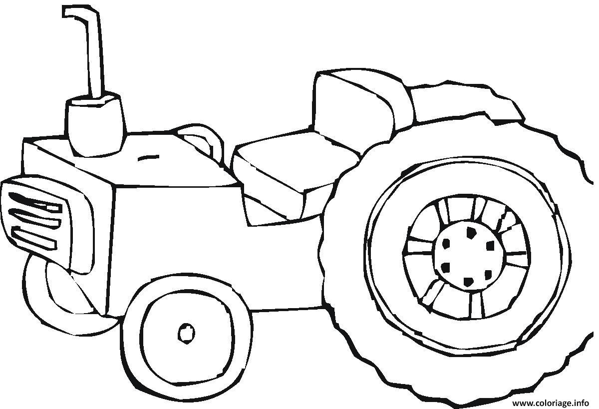 Dessin tracteur 3 Coloriage Gratuit à Imprimer