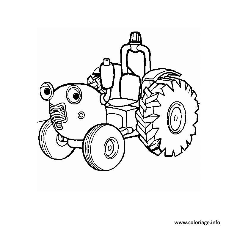 Coloriage tracteur tom dessin - Coloriage en ligne tracteur ...