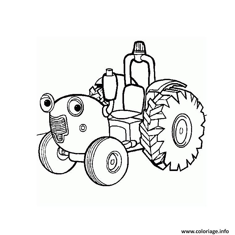 ferme tracteur coloriage dessin