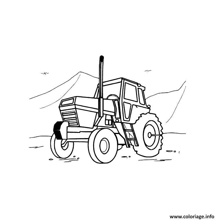 Dessin tracteur 22 Coloriage Gratuit à Imprimer