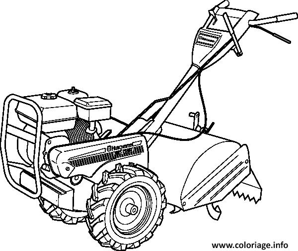 Dessin tracteur mini rapide efficace Coloriage Gratuit à Imprimer