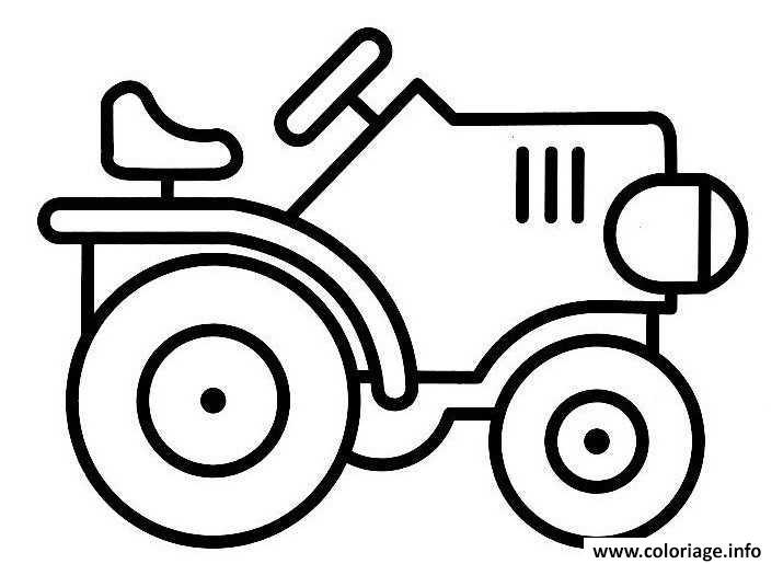 Dessin tracteur 96 Coloriage Gratuit à Imprimer