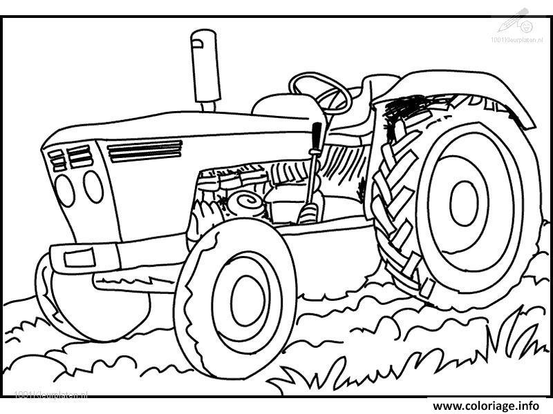 Dessin tracteur 50 Coloriage Gratuit à Imprimer