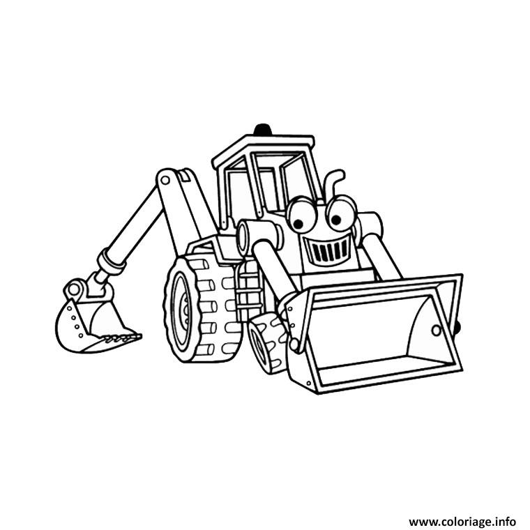 Dessin tracteur tom cartoon Coloriage Gratuit à Imprimer