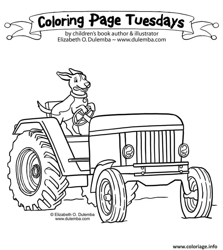 Dessin tracteur 129 Coloriage Gratuit à Imprimer