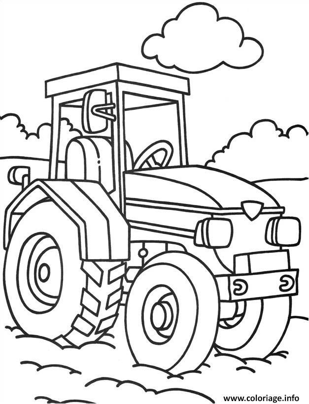 Coloriage tracteur 92 dessin - Coloriage tracteur en ligne ...