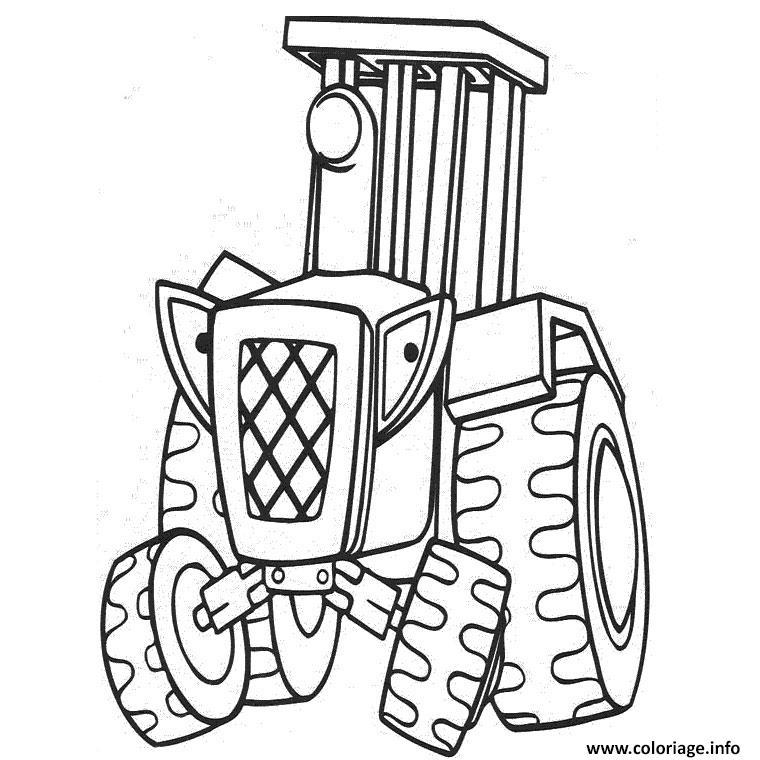 Coloriage Tracteur Ferme Agricole Dessin Tracteur A Imprimer