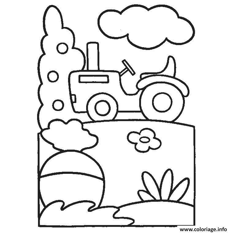 Dessin tracteur fourche Coloriage Gratuit à Imprimer