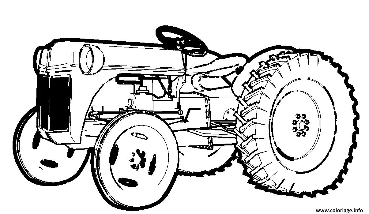 Dessin tracteur 6 Coloriage Gratuit à Imprimer