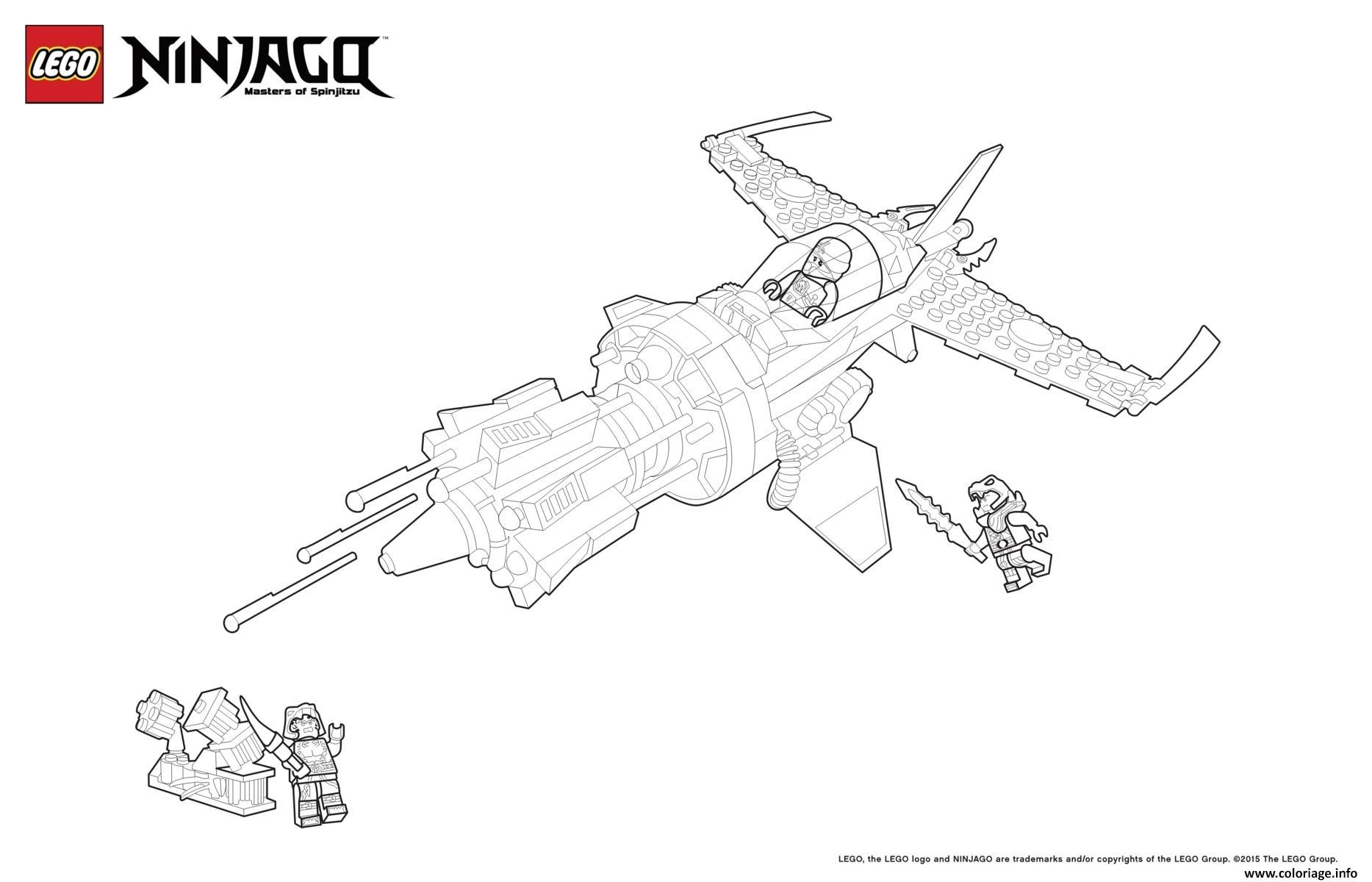 Coloriage Ninjago Lego Vaisseau Dans Espace Dessin Ninjago ...