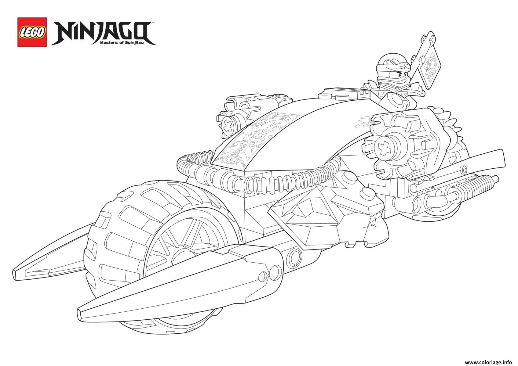 Coloriage ninjago lego en mode moto dessin - Coloriage de moto ...