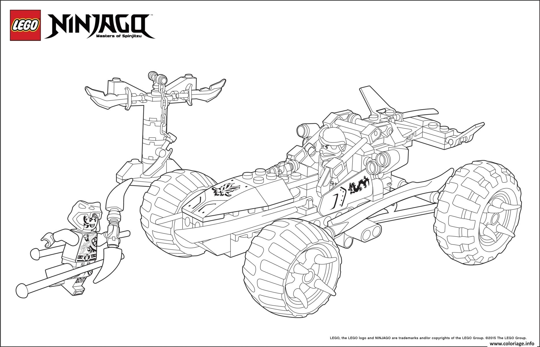 ninjago lego voiture 4x4 coloriage dessin