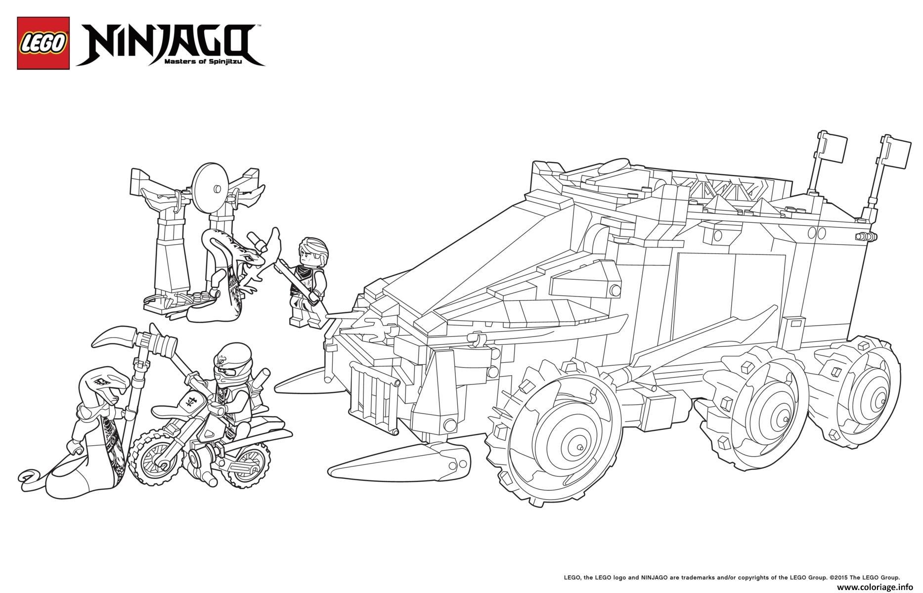 Coloriage voiture tank moto ninjago dessin - Ninjago a imprimer ...