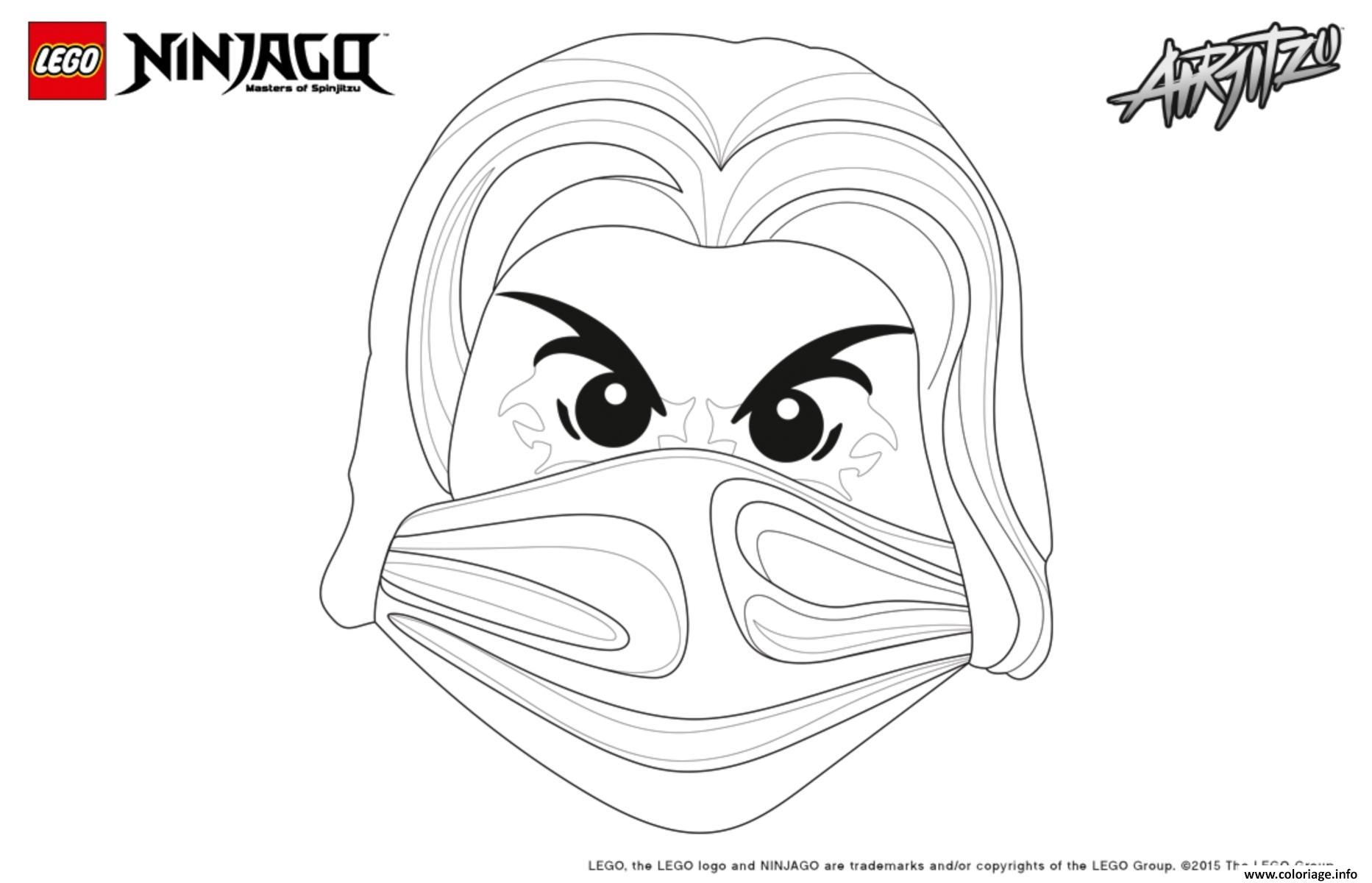 Coloriage ninjago lego visage jay dessin - Ninjago a imprimer ...