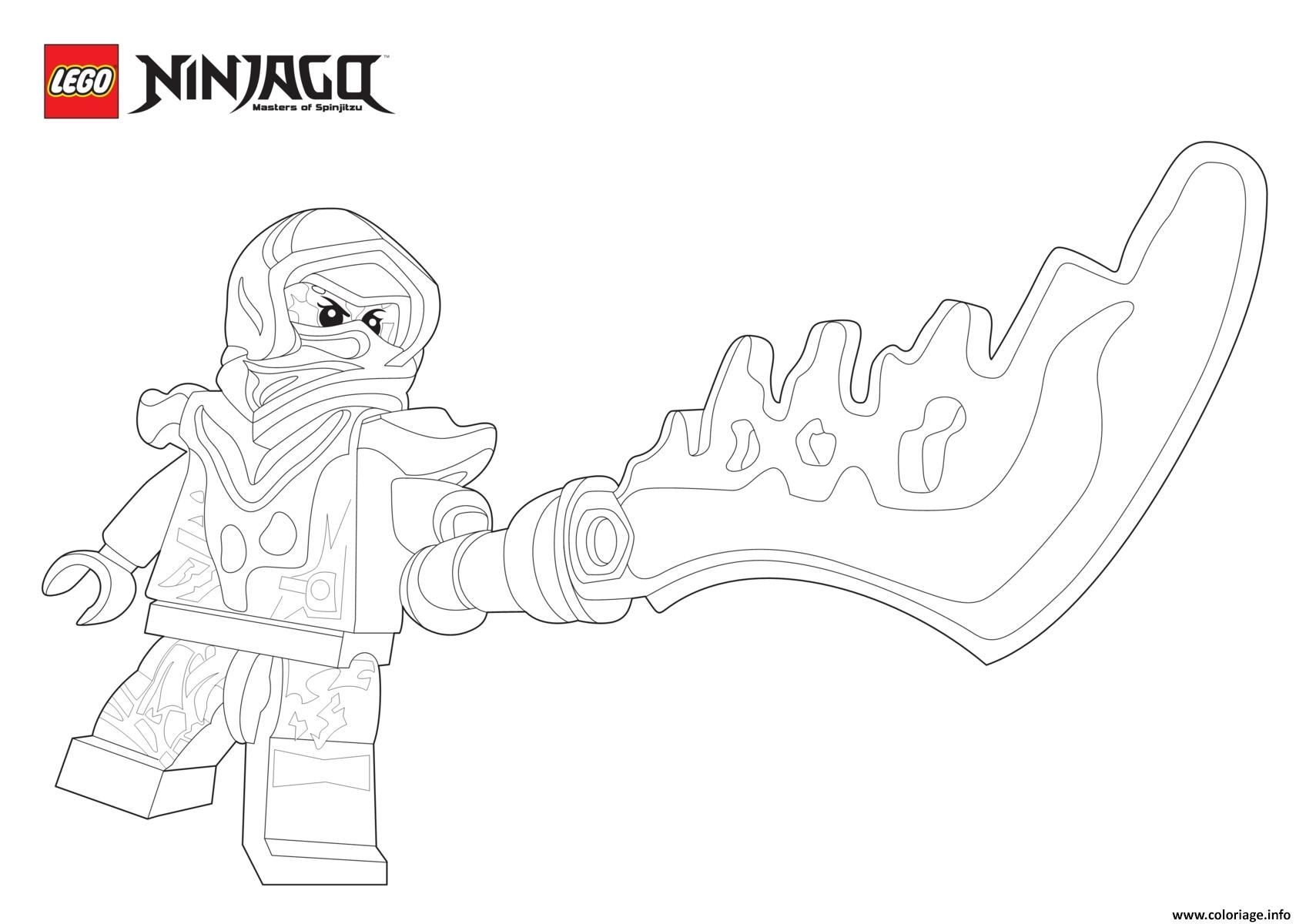 Coloriage Nya Ninjago Epee dessin