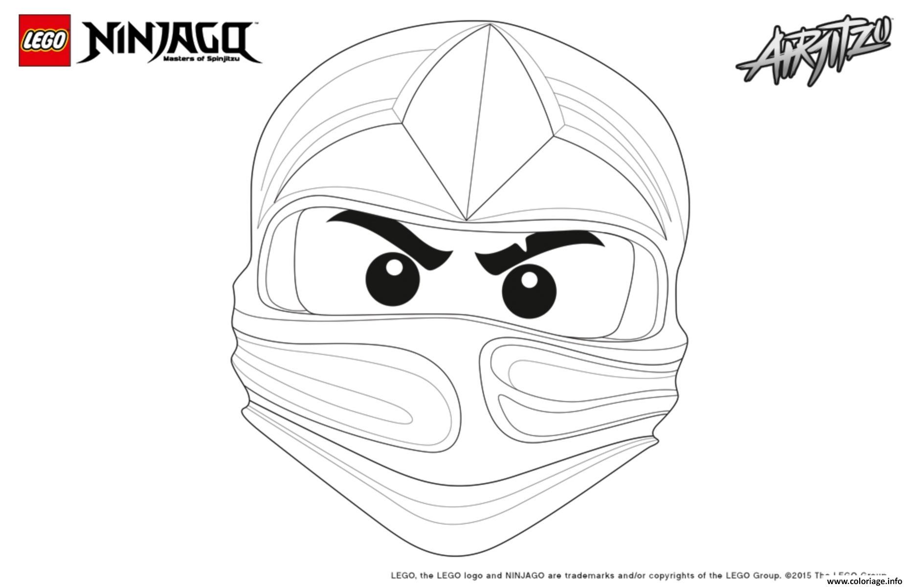 Coloriage ninjago lego visage kai - Coloriage de ninjago vert ...