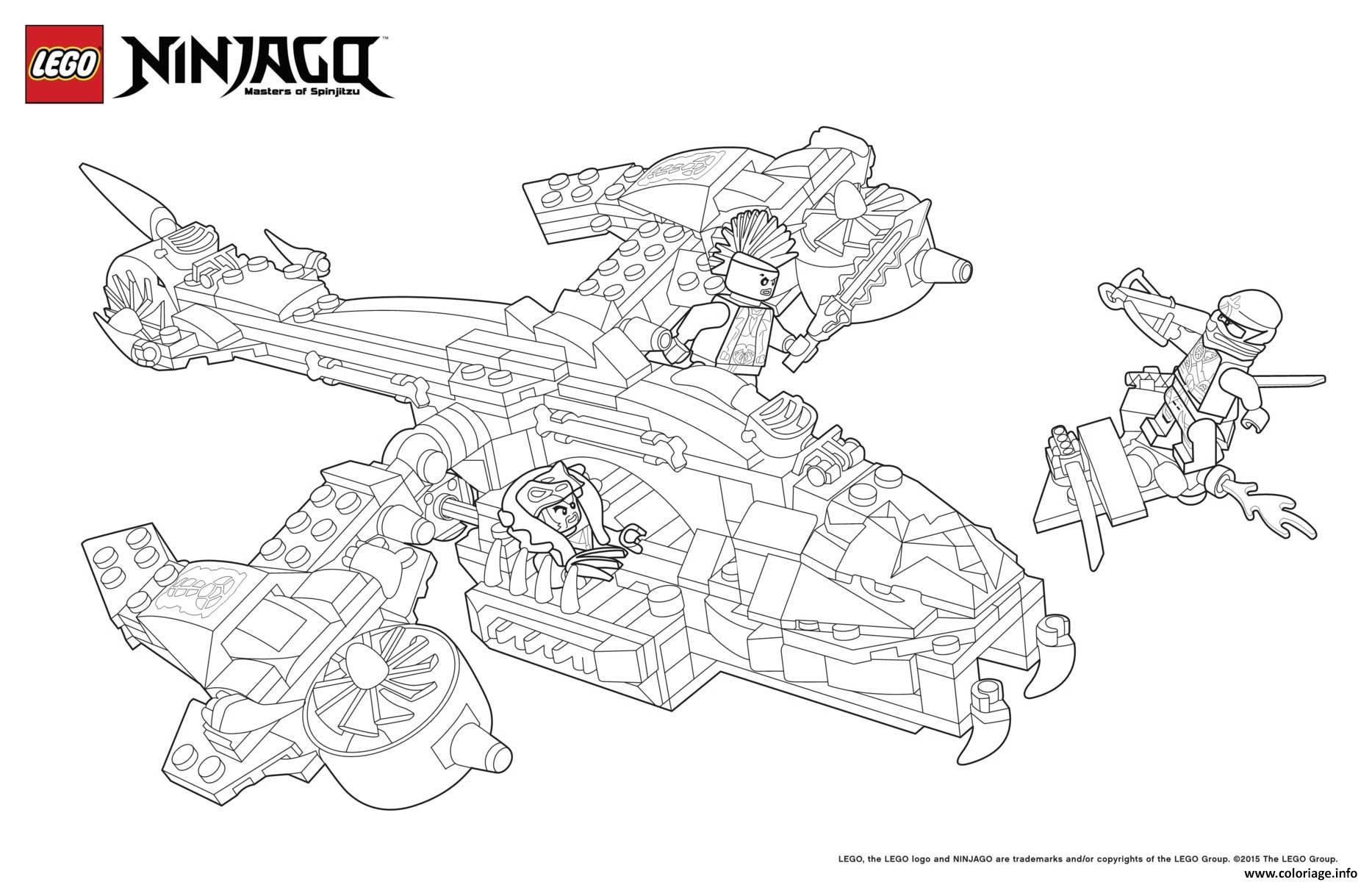 Coloriage ninjago lego avion de chasse dessin - Dessin de chasse ...