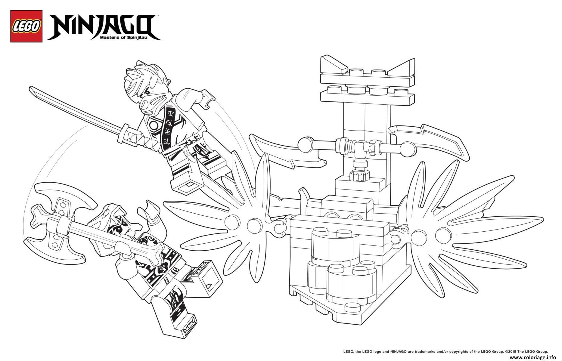 Dessin combat de ninjas lego Coloriage Gratuit à Imprimer