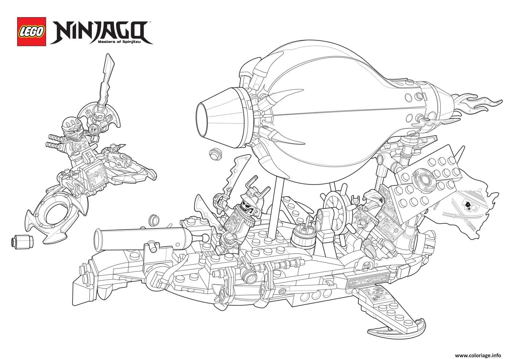 Coloriage ninjago vs ennemis en bateau dessin - Ninjago a imprimer ...