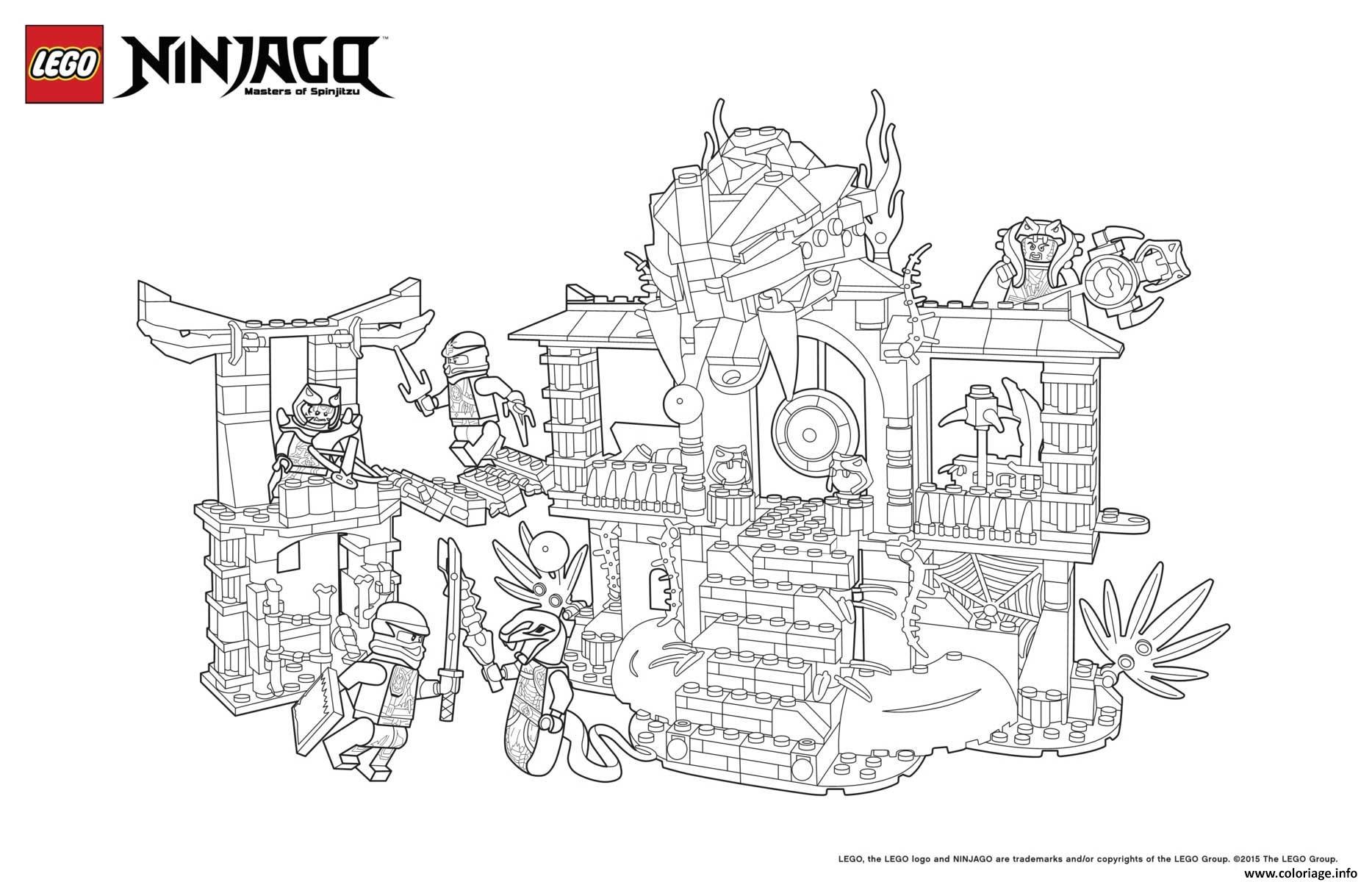 Coloriage le palais de ninjago lego dessin - Dessin de lego ninjago ...