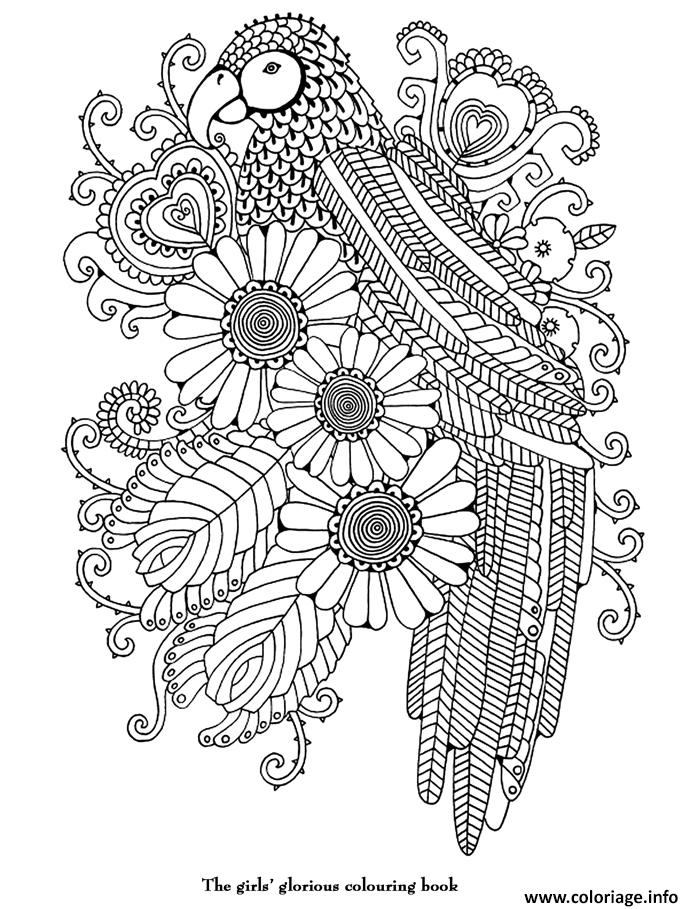 Coloriage art therapie 2 dessin - Coloriage art ...
