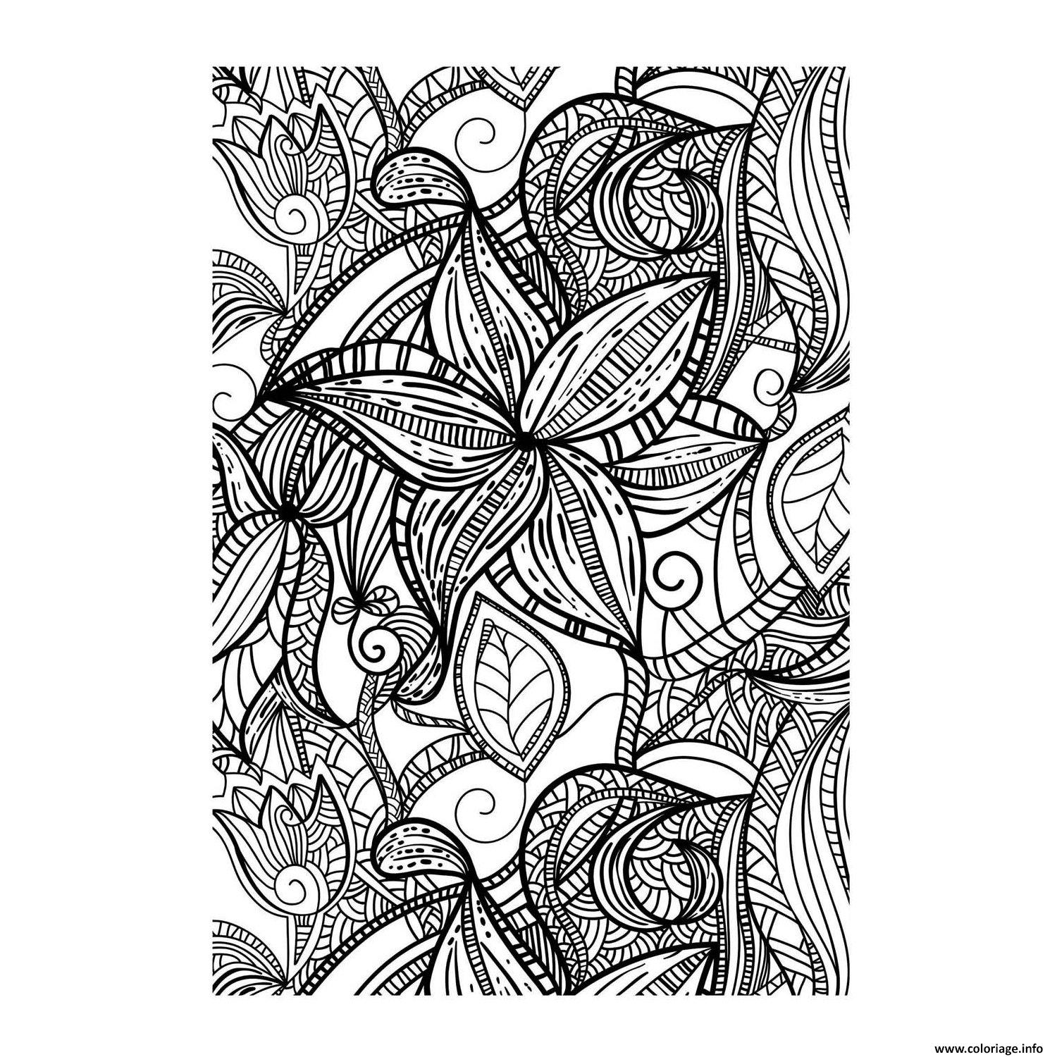 Coloriage art therapie 58 dessin - Coloriage art ...