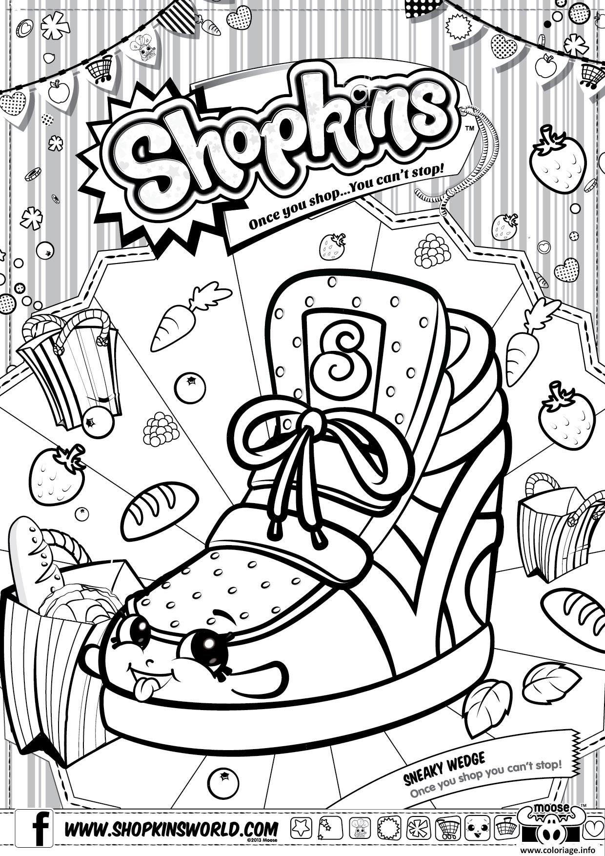 Coloriage Shopkins Sneaky Wedge