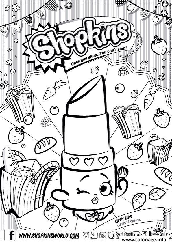 Coloriage shopkins lippy lips dessin for Lipstick shopkins coloring page