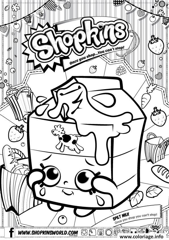 Dessin shopkins split milk Coloriage Gratuit à Imprimer