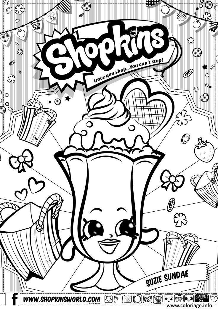 Dessin shopkins suzie sundae Coloriage Gratuit à Imprimer