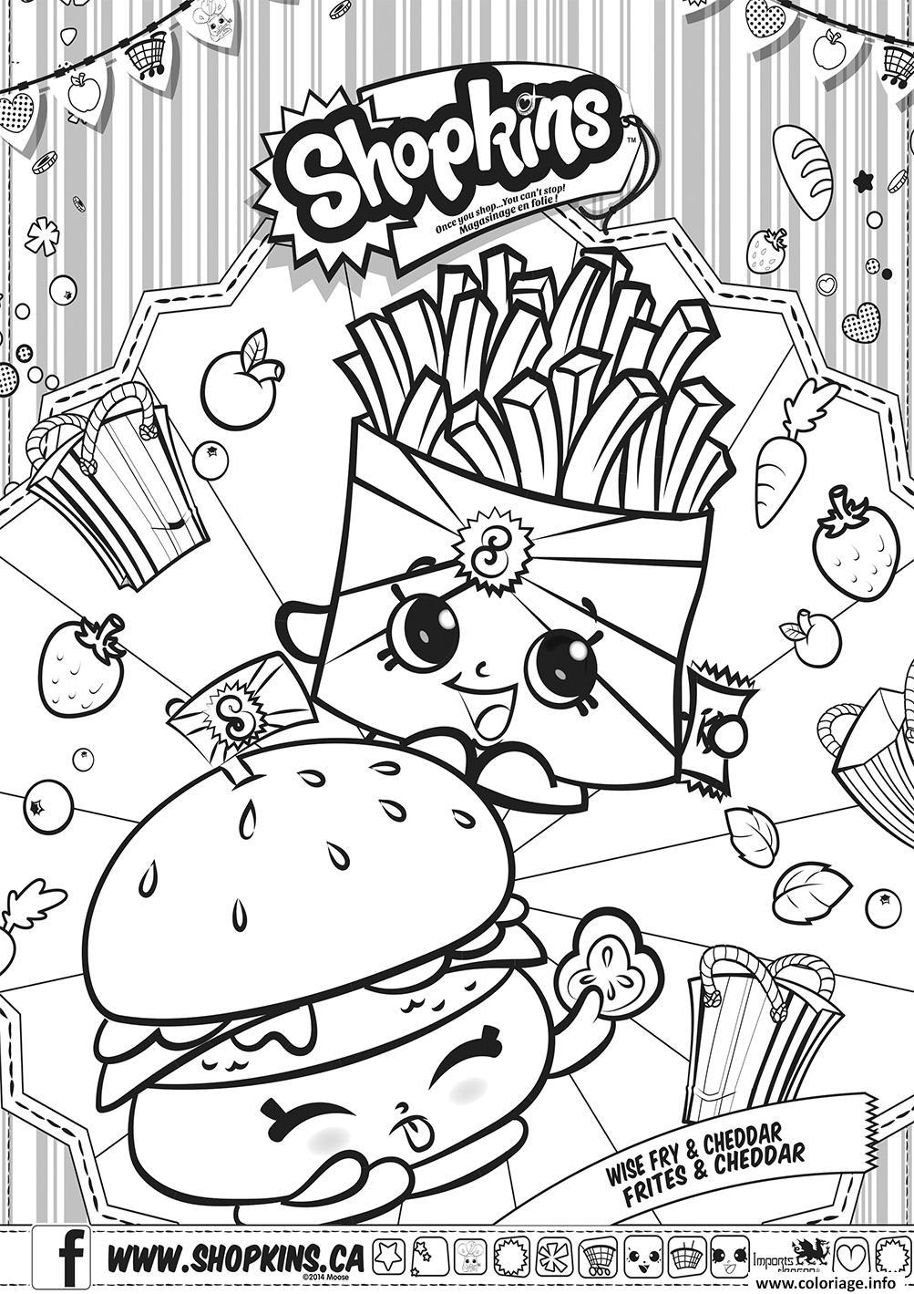 Coloriage shopkins wise fry cheddar bilingual dessin - Coloriage de petshop a imprimer gratuit ...