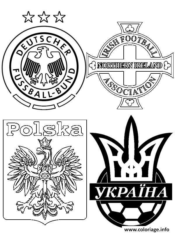 Dessin euro 2016 france foot allemagne ukraine pologne irlande du nord Coloriage Gratuit à Imprimer