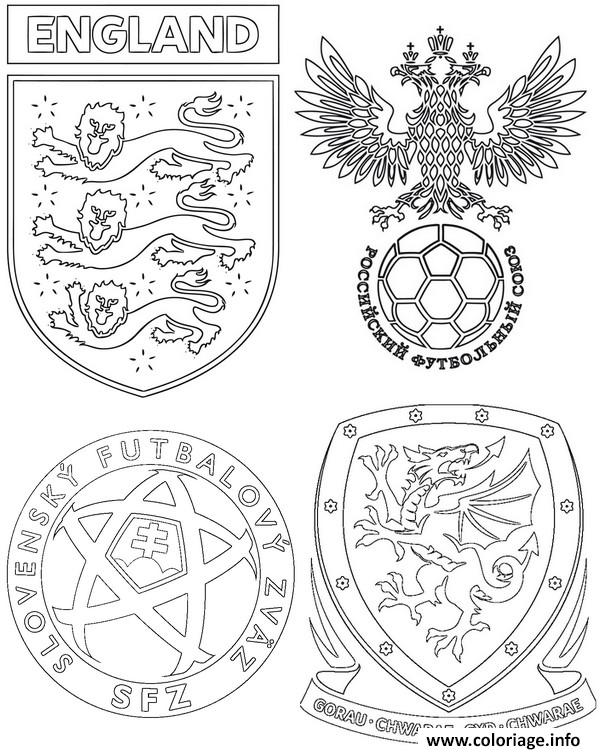 Coloriage Euro 2016 France Football Angleterre Russie Slovaquie Pays De Galles Dessin à Imprimer
